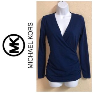Michael Kors blue blouse